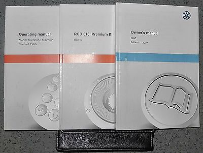 Vw Golf Mk6 Drivers Handbook Owners Manual Wallet For 2008-2012 Cars Ref5081