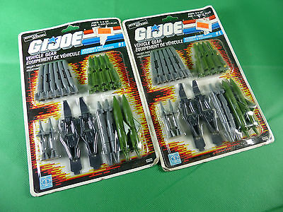 2x 6098 GI Joe Vehicle Accessory Pack #1  MOSC NOS