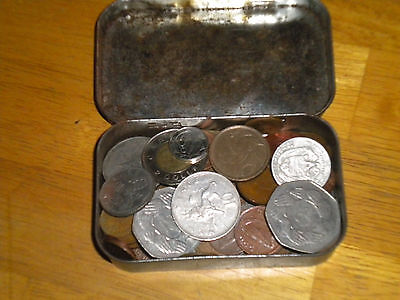 Small Tin Of Mixed Coins