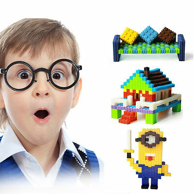 200 Pcs/Set Plastic Building Blocks Kids Toy New Puzzle Educational Learning XC