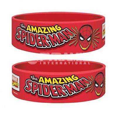 Marvel Comics Rubber Braccialetto Wristband Spider Man Pyramid International - N