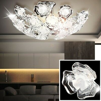 Ceiling Light Rose Petals Flowers Living Dining Room Lighting Round E14 Lamp
