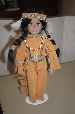 Porcelain Indian Doll 16 Inches ~ Excellent