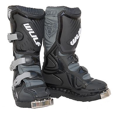 NEW Wulfsport Cub Motocross Enduro MX Super LA Kids Youth Boots All Sizes Black