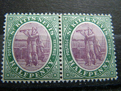 St. Kitts Nevis 1905 MNH pair of SG.11 as photos.