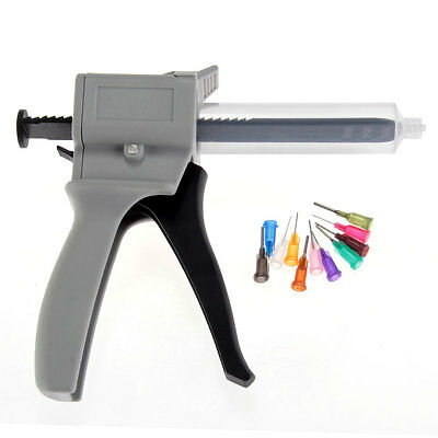 Plastic Glue Gun Manual Tool Craft DIY for Ink Solder Paste 10 Düse 30ML