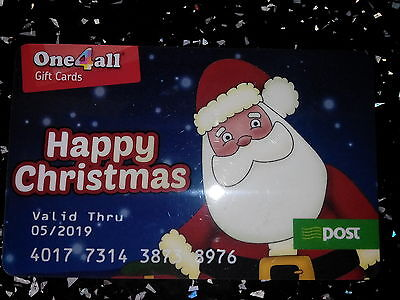 Amazing One4All Gift Card Santa Claus Christmas Coupon Voucher AnPost Very Rare