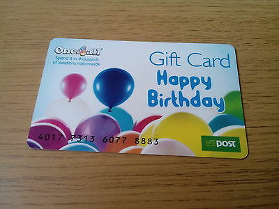 Amazing One4All Gift Card Happy Birthday Coupon Voucher very Rare incl AnPost