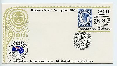 Papua New Guinea stationery envelope used 1984 (H375)