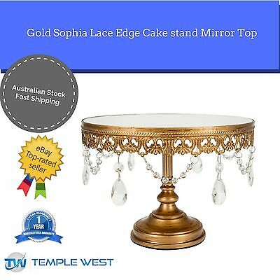 NEW Lace Chandelier Wedding Cake Stand Cupcake Decorating Party Plate 2 colours