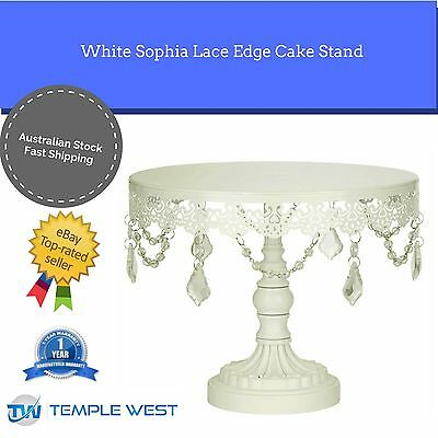 NEW Lace Edge Chandelier Wedding Cake Stand Cupcake Decorating Party 2 colours