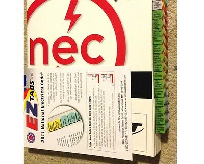 2011 NEC National Electrical Code and EZ Tabbed + Ohms law sticker ***