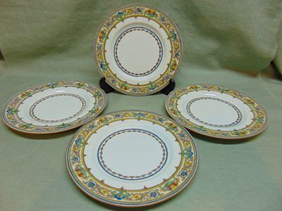 Minton China Plymouth B1032 Multicolor Flower Urns & Scrolls 4 Salad Plates