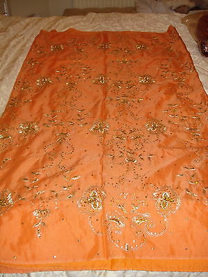 Ladies / Girls Wash & Wear Saree With Zari, Sequence & Bead Work All Over
