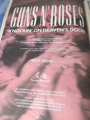 """Guns N Roses  """"knockin` On Heaven`s Door"""" Advert From 1992 Full Page A3"""