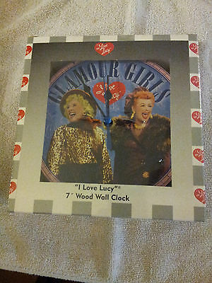"""I Love Lucy 7"""" Wood Wall Clock, Glamour Girls By Vandor New In Original Package"""