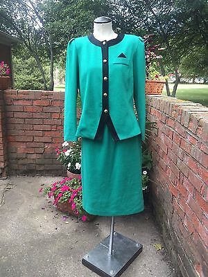 Vintage Double Knit Two Pice Skirt Suit