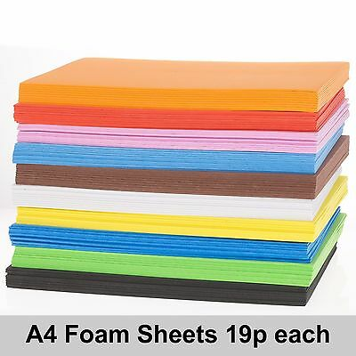 EVA Foam sheets A4 or A3 Choose Colour and Size Pack of 10 sheets