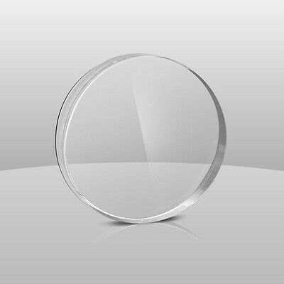 "Clear Acrylic Plexiglass  0.090""- 3/32""  Circle Disc 8"" Diameter (Pack Of 2)"