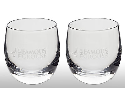 The Famous Grouse Whisky Spinning Tumbler Glass X 2