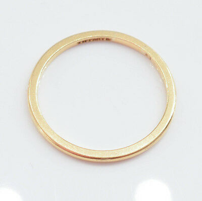 C415 Vintage TIFFANY & CO STERLING 18K yellow gold ring 1.6g