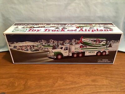 2002 HESS TOY TRUCK & AIRPLANE - Mint, Complete, Unopened In Original Box