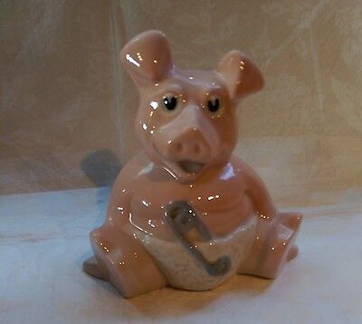 Wade Nat West Bank Pig Money Box - Woody with original stopper
