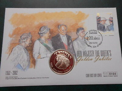 Coin First Day Cover - Queen Golden Jubilee - No4