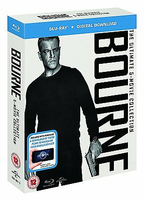 Jason Bourne - The Ultimate 5-Movie Collection (Blu-ray) BRAND NEW!!