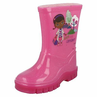 Disney Doc McStuffins Girls Pink Wellie Boots (R33A)