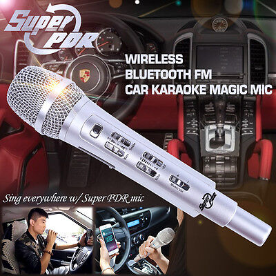 Car Karaoke Sing FM Bluetooth Outdoor Wireless Dynamic Microphone Mic For Iphone
