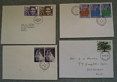 4 x FDC - First Day Cover