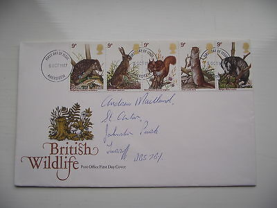 FDC - First Day Cover - 1977 British Wildlife