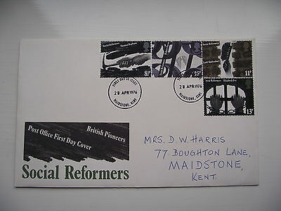 FDC - First Day Cover - 1976 Social Reformers