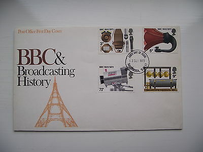 FDC - First Day Cover - 1972 BBC & Broadcasting History
