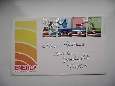 FDC - First Day Cover - 1978 Energy