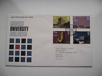 FDC - First Day Cover - 1971 Modern University Buildings