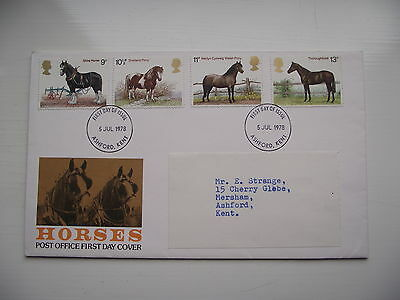 FDC - First Day Cover - 1978 Horses