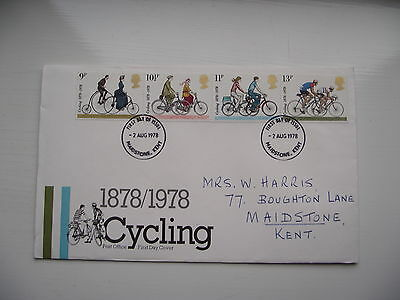 FDC - First Day Cover - 1978 Cycling