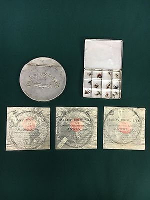Hardy Vintage Gut Leaders, Vintage Cast Box, & Vintage Fly Box Collection