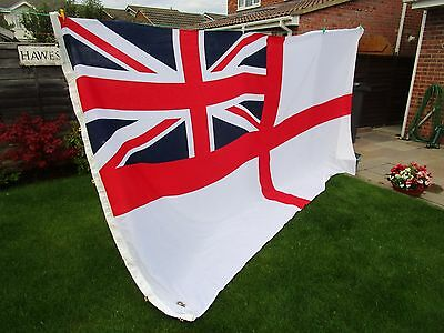 """Massive Ex Royal Navy stern flown Ensign Flag BRITISH MADE Approx 12ft x 6ft 8"""""""