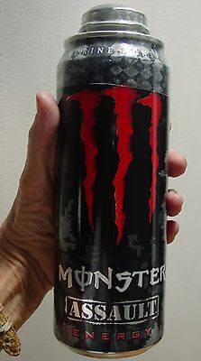24 OUNCE Monster Assault TWIST TOP Energy Drink  Sealed Full Can