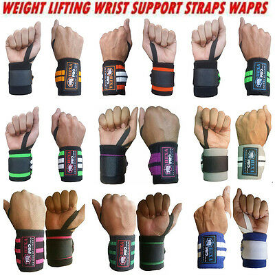 Hexa Pro Weight Lifting Gym Training Wrist Support Straps Wraps Bodybuilding