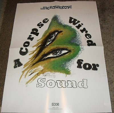 """Promo wMERCHANDISE """"A Corpse Wired For Sound"""" Poster 18""""x24"""" Dbl-Sided NEW Rare"""