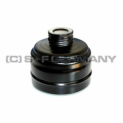 █ Deluxe Gas Mask Filter Black 40Mm For Latex Cosplay Fetish Hood Catsuit Body █