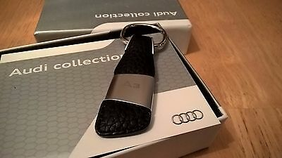 Audi A3 Genuine OE Leather Key fob ring holder 3181400203