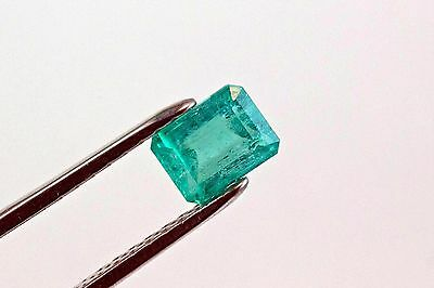 8 X 6mm 2.10 TCW Emerald Cut Natural Colombian Emerald Loose Gemstone