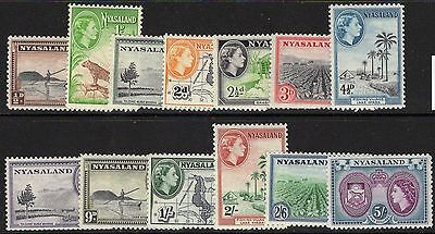 Nyasaland Sg173/85 1953 Definitive Set To 5/= Mnh