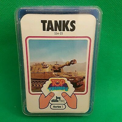 Tanks Series 1  - TOP TRUMPS by DUBREQ - Vintage 80s - Boxed 33 cards (L3)