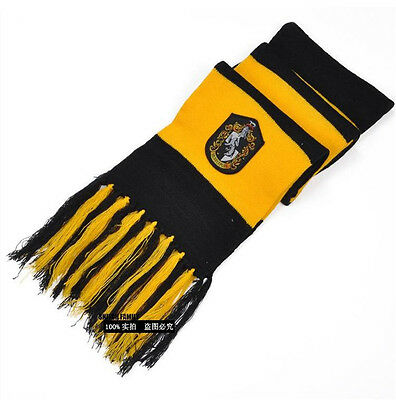 Harry Potter Hufflepuff Knit Shawl Wrap Soft Warm Scarf Unisex Costume Gift